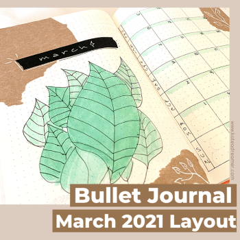March 2021 Bullet Journal Layout