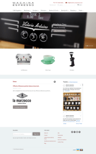 Machina Espresso homepage