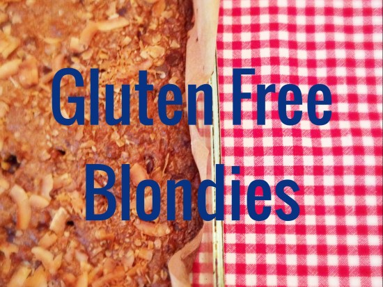 Gluten Free Blondies