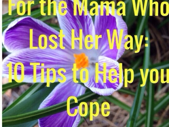 For the Mama Who's Lost Her Way: 10 Tips to Help You Cope