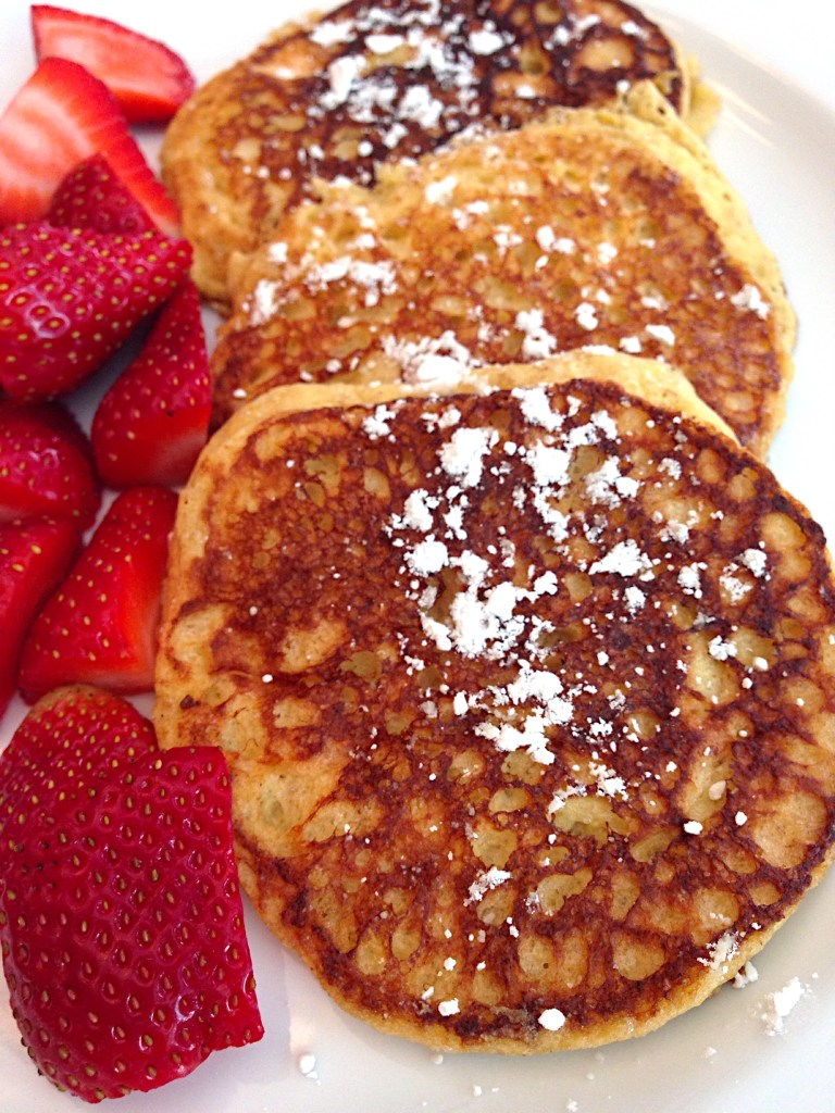 Lemon Ricotta Pancakes-Light & Gluten Free