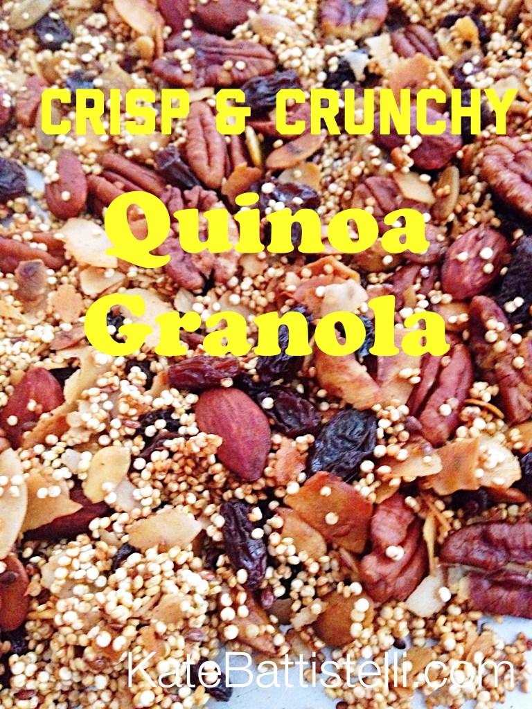 Crisp & Crunchy Quinoa Granola