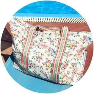 Cath Kidston beach bag on Kate Beavis Vintage Home blog