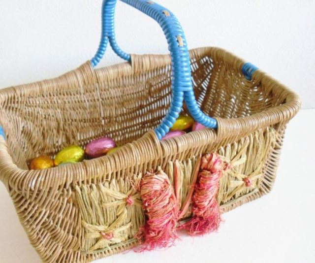 vintage easter basket from Kate Beavis