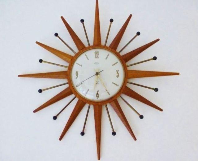 retro vintage starburst clock as featured on Kate Beavis Vintage Home blog
