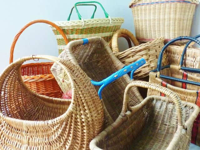 vintage baskets by Kate Beavis