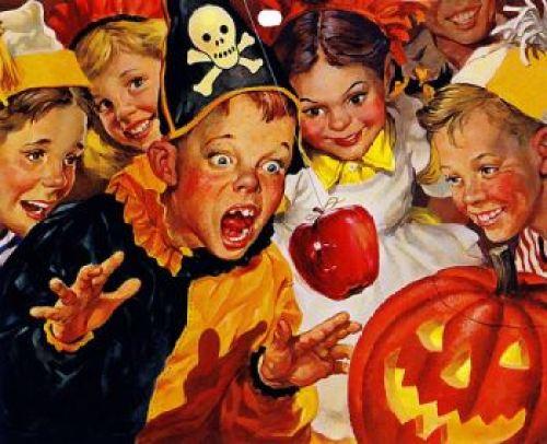 vintage 50s halloween