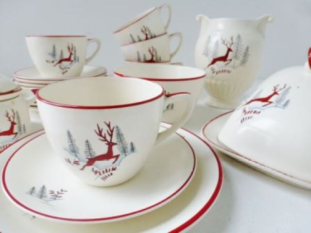 Vintage crown devon stockholm stag ceramics as featured on Kate Beavis Vintage Home blog