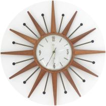 Vintage starburst clock on Kate Beavis Vintage Home blog