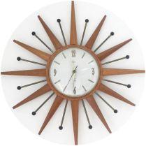 Vintage starburst clock on Kate Beavis Vintage Home blog