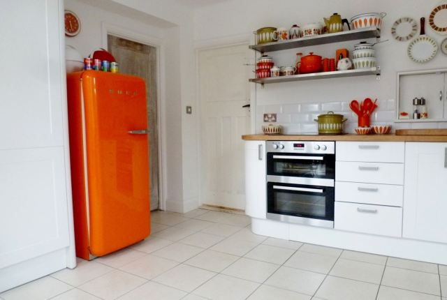 retro vintage kitchen 1960s orange smeg kate beavis