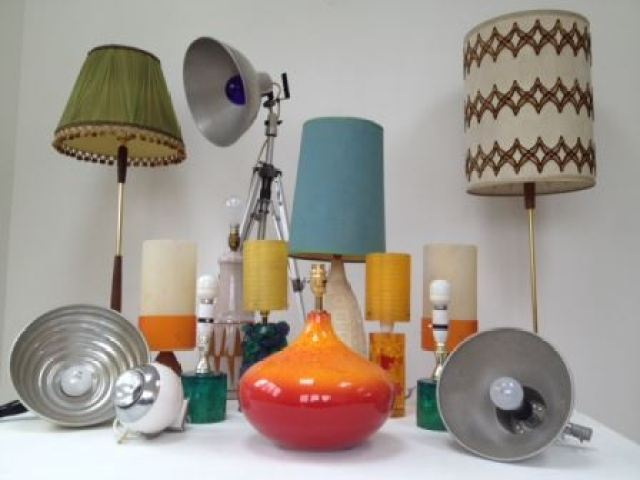 Vintage lighting by Kate Beavis vintage home - Health and Safety blog