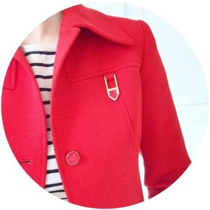 Vintage Jaeger blazer jacket on Kate Beavis Vintage Home blog