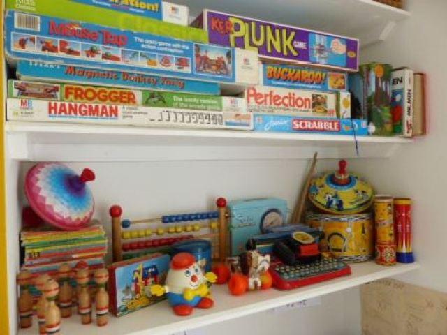 vintage retro kids childrens playroom by Kate Beavis