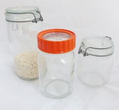 Vintage Kilner and Le Parfait glass jars by kate Beavis