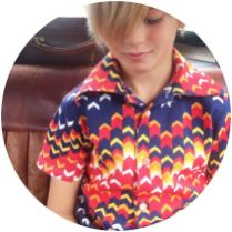 Boy childrens vintage shirt on Kate Beavis blog