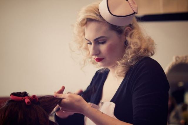 Beauty Parlour at the Festival of Vintage as seen on kate Beavis Home blog