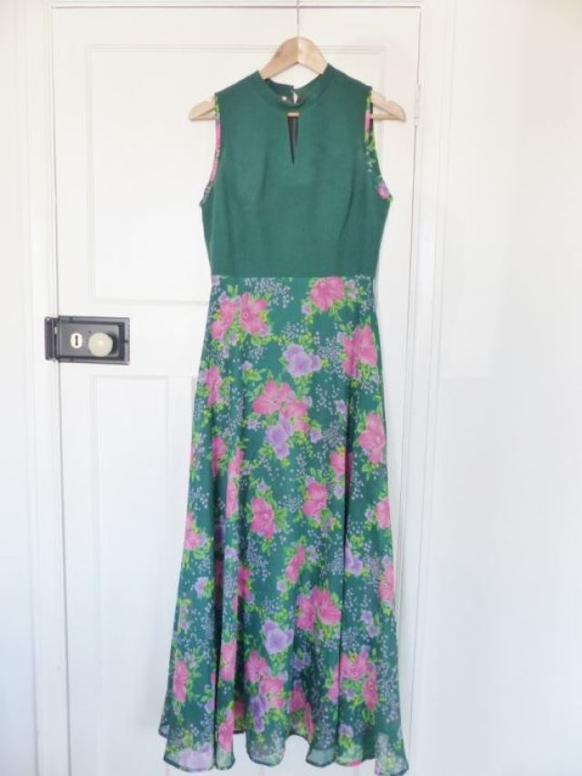 1970s vintage maxi dress by kate Beavis