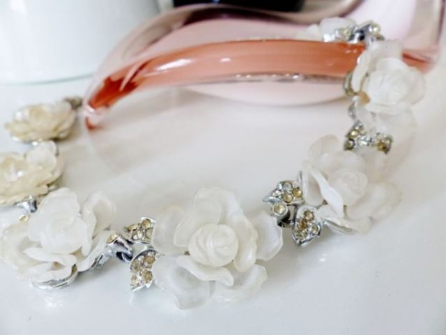 1930s rose vintage necklace by Kate Beavis