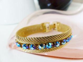 Vintage 1960s gold tone bracelet from kate Beavis