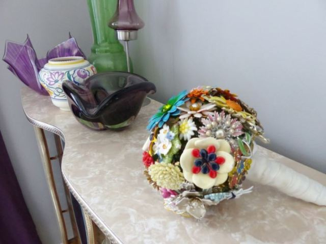 Kate Beavis vintage brooch bouquet Vintage Bedroom