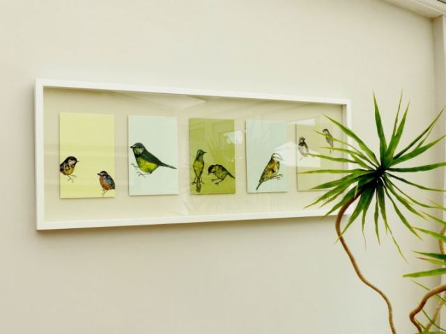 Bird Ikea print picture as featured on kate Beavis Vintage Home Blog