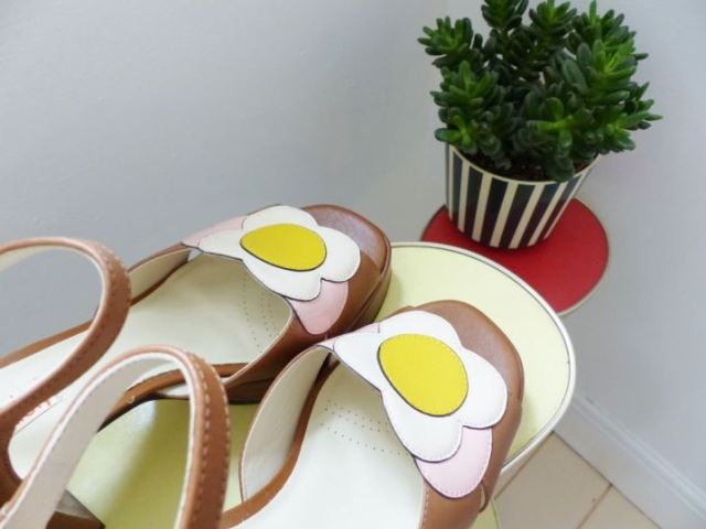 Clarks shoes designed by Orla Kiely, Betty, as featured on kate Beavis Vintage Home blog