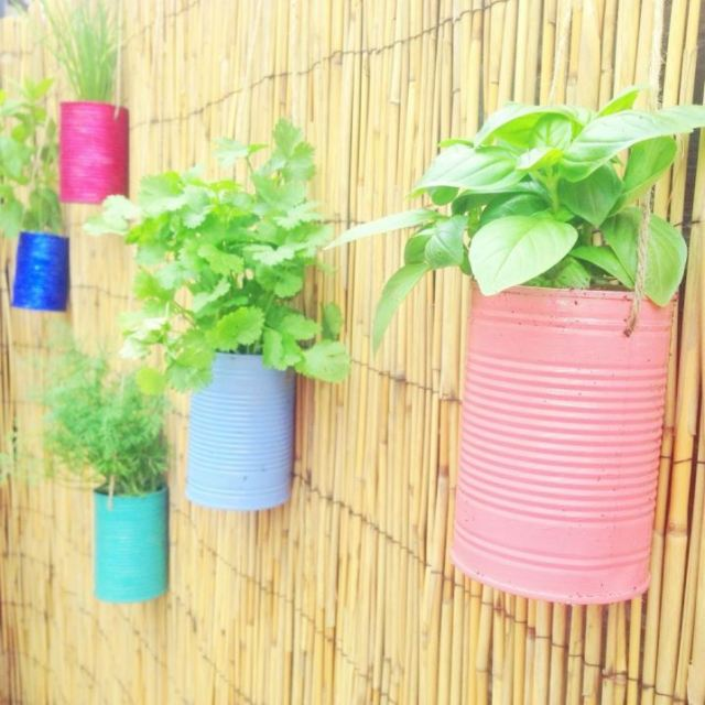 DIY Pastel herb planters by Daphne Rosa as featured on Kate Beavis Vintage Blog