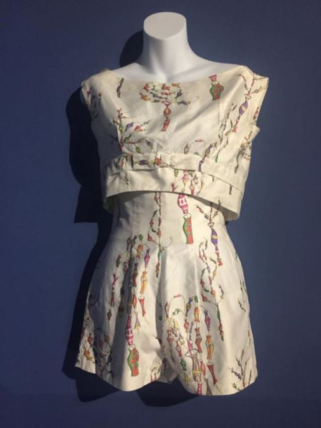 Vintage 1950s playsuit  swimwear swimming costume a featured on Kate Beavis Home blog (F&T museum)