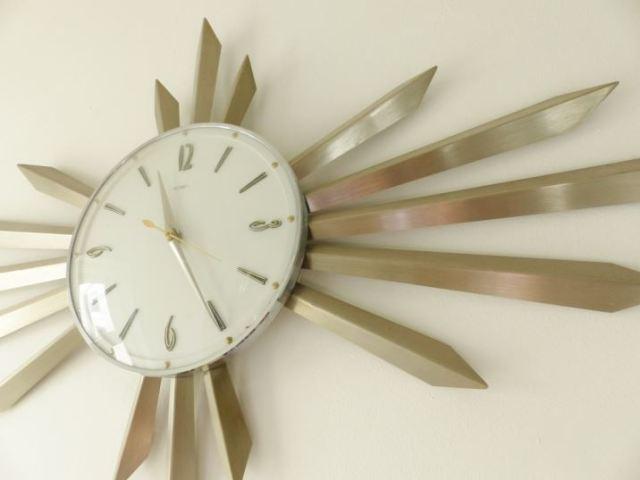 Vintage starburst clock as featured on Kate Beavis Vintage Blog