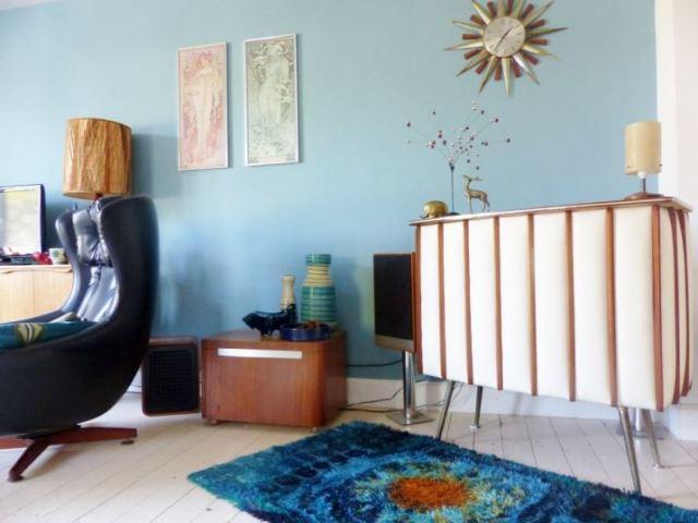 Vintage Rya Rug as featured in Kate Beavis Home blog