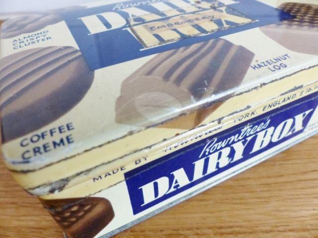 Vintage Dairy Milk chocolate tin as featured on Kate Beavis Vintage Home blog