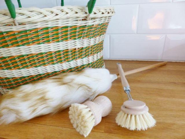 vintage basket as featured on Kate Beavis Vintage Home blog