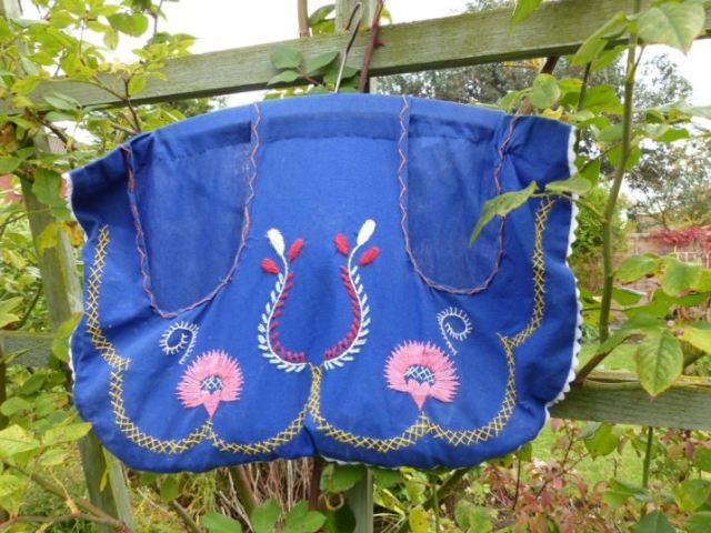 Vintage peg bag as featured on Kate Beavis Vintage Home blog