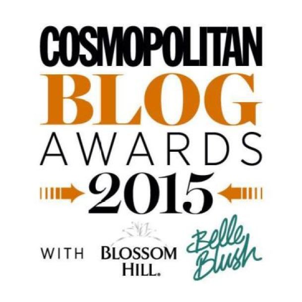 Cosmopolitan Blog Awards 2015 as seen on Kate Beavis Vintage Home blog