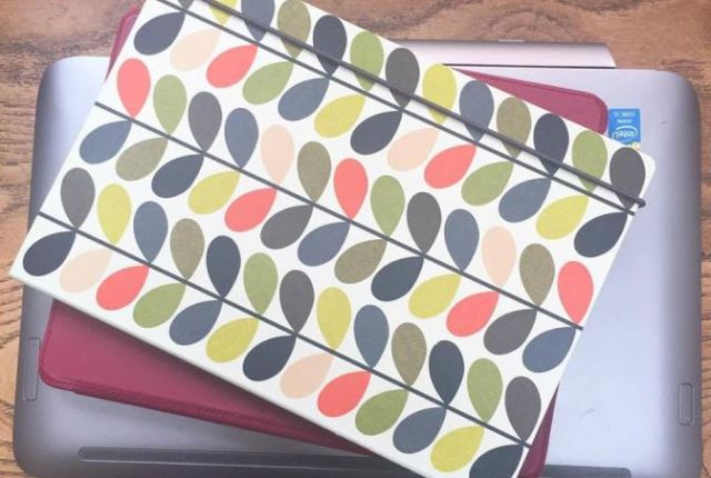 Orla Kiely notebook as featured on Kate Beavis VIntage Home blog