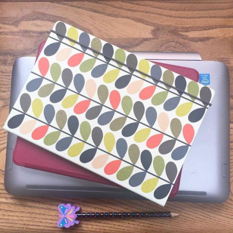 Orla Kiely notebook as featured on Kate Beavis VIntage Home blog