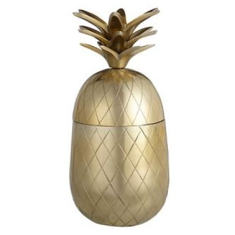 John Lewis gold pineapple as featured on Kate Beavis Vintage Home blog