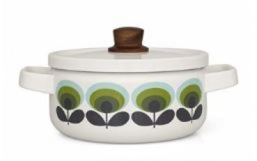 Vintage style Orla Kiely saucepans as featured on Kate Beavis Vintage Home blog 2