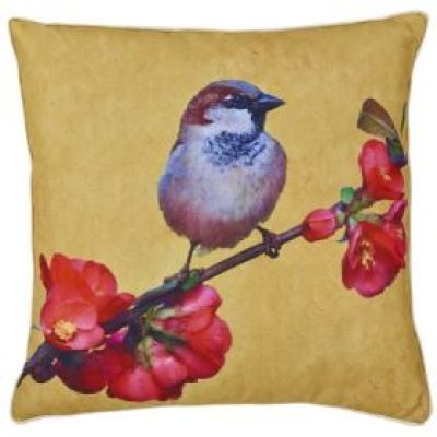 Vintage style cushion from The Rangeas featured on Kate Beavis Vintage Home blog