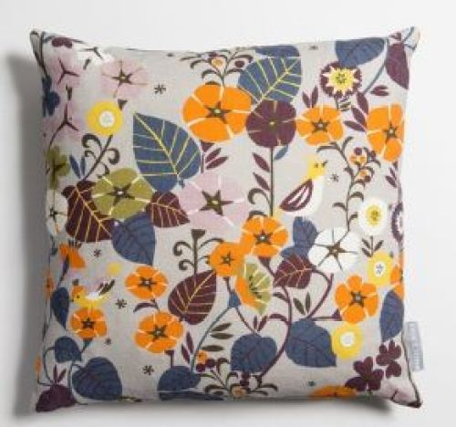 Vintage cushion from Winter's Moon as featured on Kate Beavis Vintage Home
