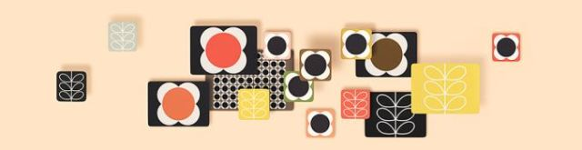 orla kiely placemats as featured on Kate Beavis Vintage Home blog