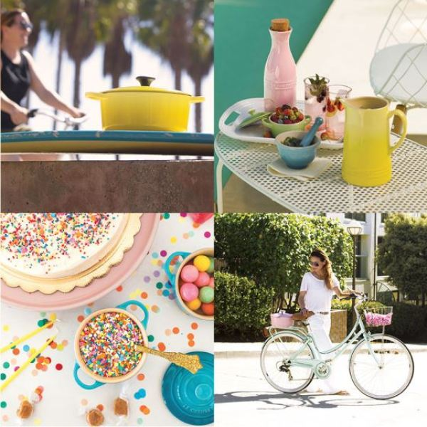 Le Creuset Oasis pastel range as featured on Kate Beavis Vintage Home blog