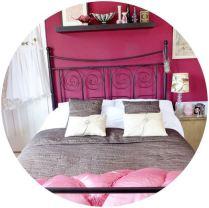 vintage spare bedroom