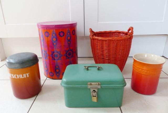Vintage Dutch tins and kitchenware from Kate Beavis Vintage Home blog