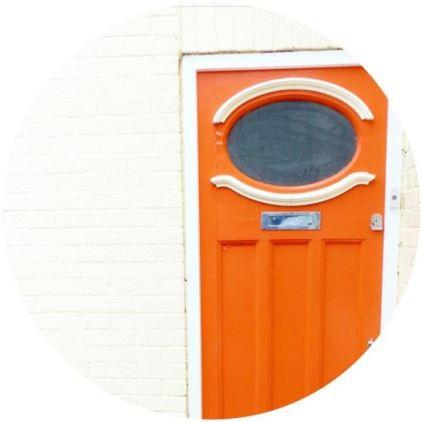 orange vintage front door
