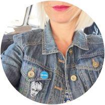 Nick Rhodes badge on Kate Beavis vintage blog