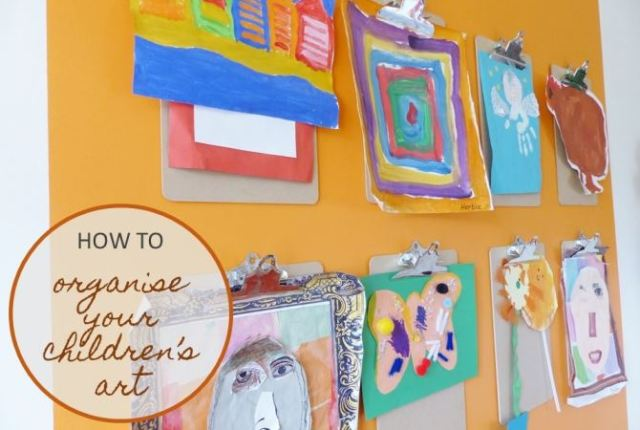 How to organise your children's art (plus a FREE summer holiday diary printable)