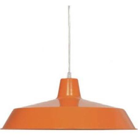 Vintage style orange pendant light as featured on Kate Beavis.com