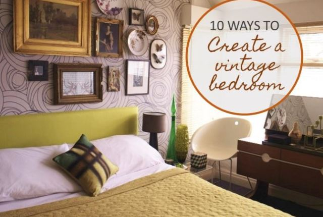 10 ways to create a vintage mid century bedroom by Kate Beavis.com